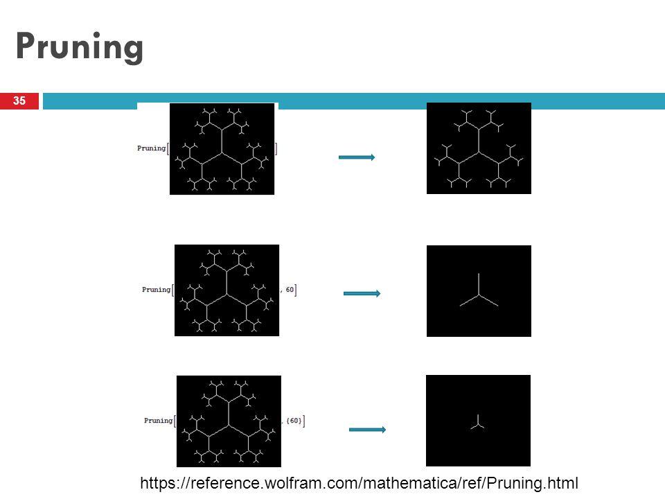Pruning 35 https://reference.wolfram.com/mathematica/ref/Pruning.html
