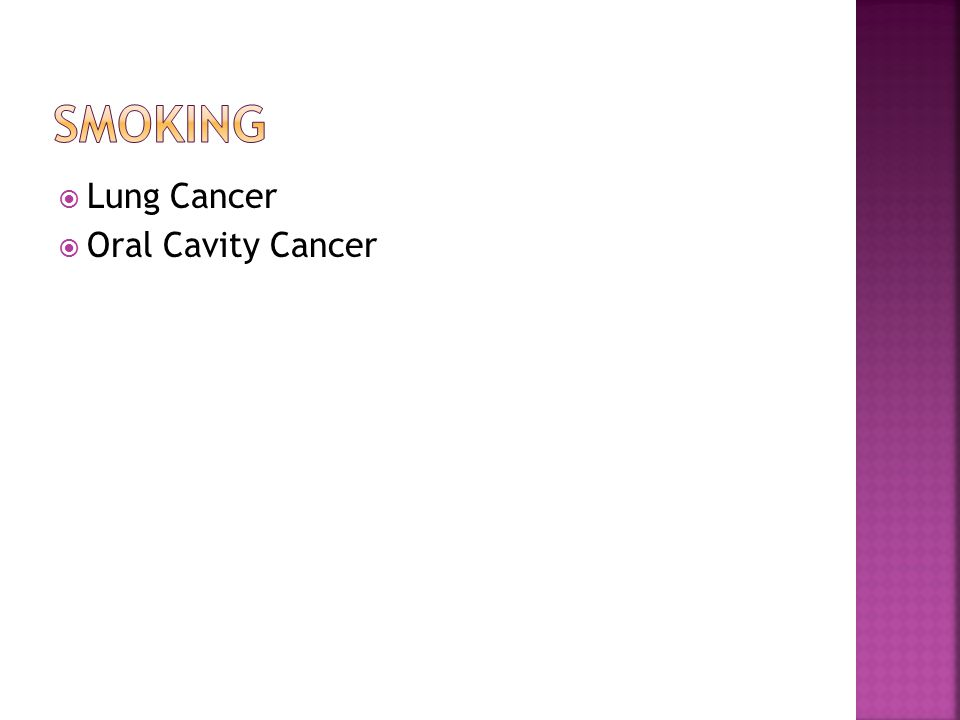  Lung Cancer  Oral Cavity Cancer