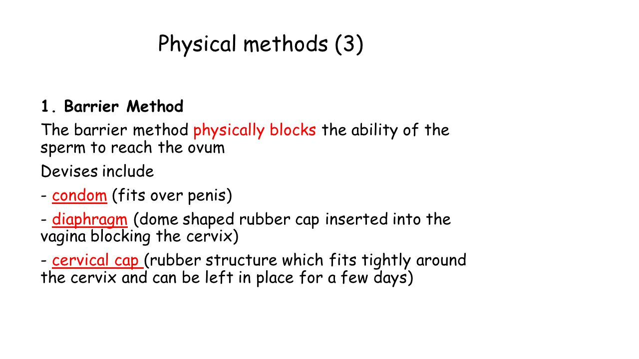 Physical methods (3) 1.