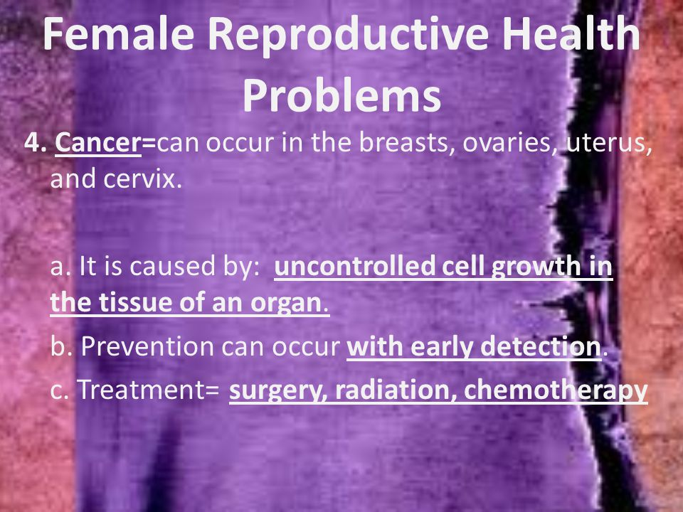 Female Reproductive Health Problems 4.