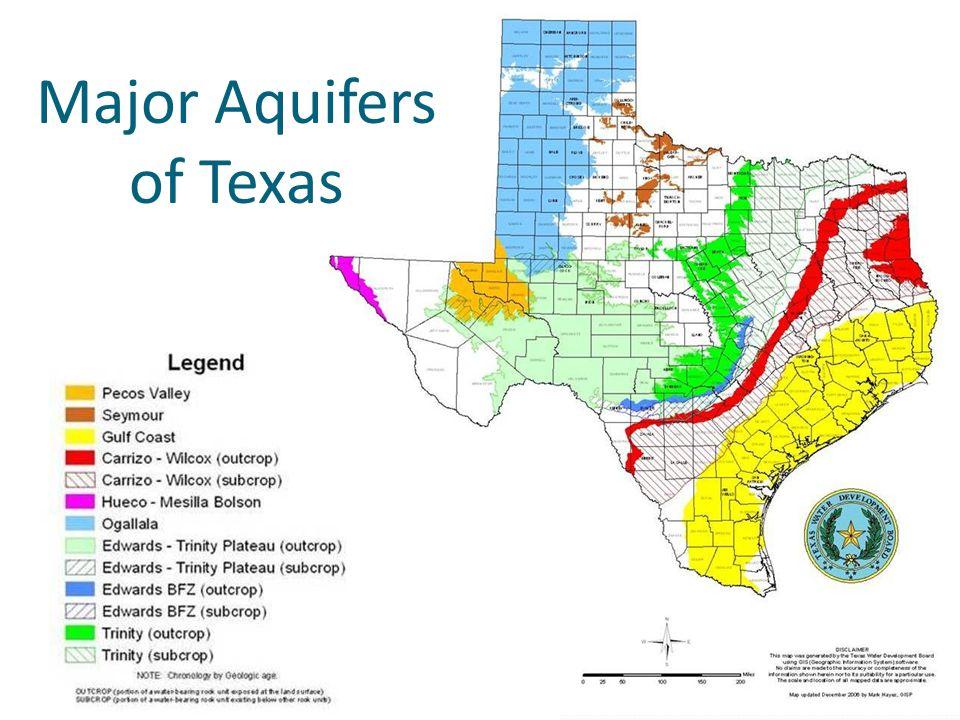 Major Aquifers of Texas