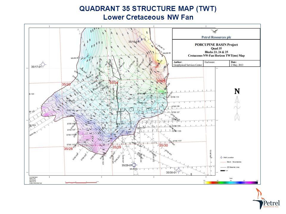 QUADRANT 35 STRUCTURE MAP (TWT) Lower Cretaceous NW Fan