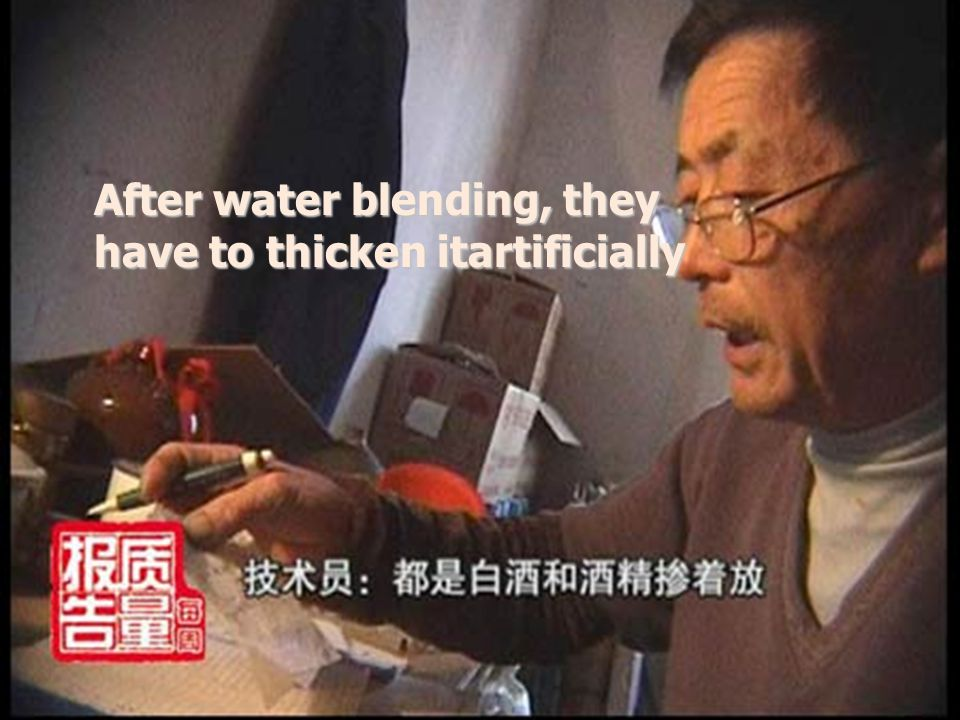 After water blending, they have to thicken itartificially
