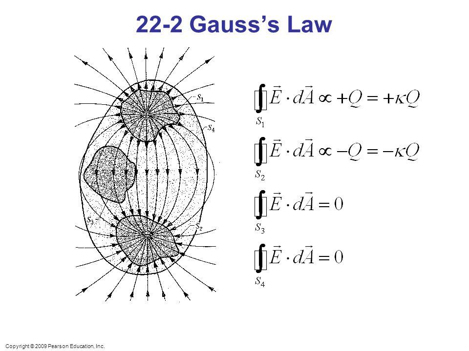 Copyright © 2009 Pearson Education, Inc. 22-2 Gauss's Law