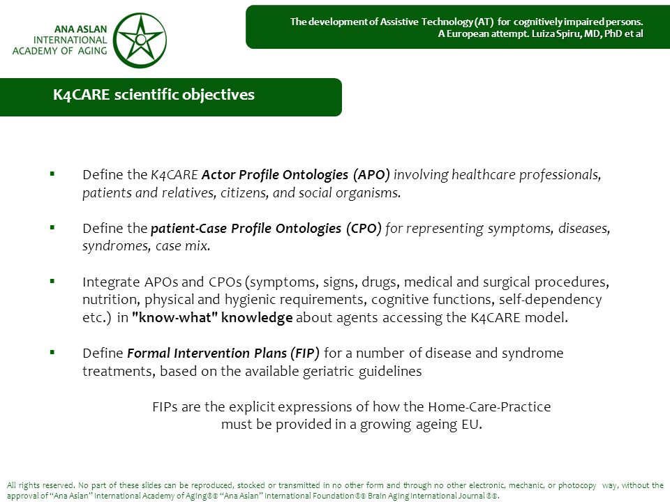  Define the K4CARE Actor Profile Ontologies (APO) involving healthcare professionals, patients and relatives, citizens, and social organisms.