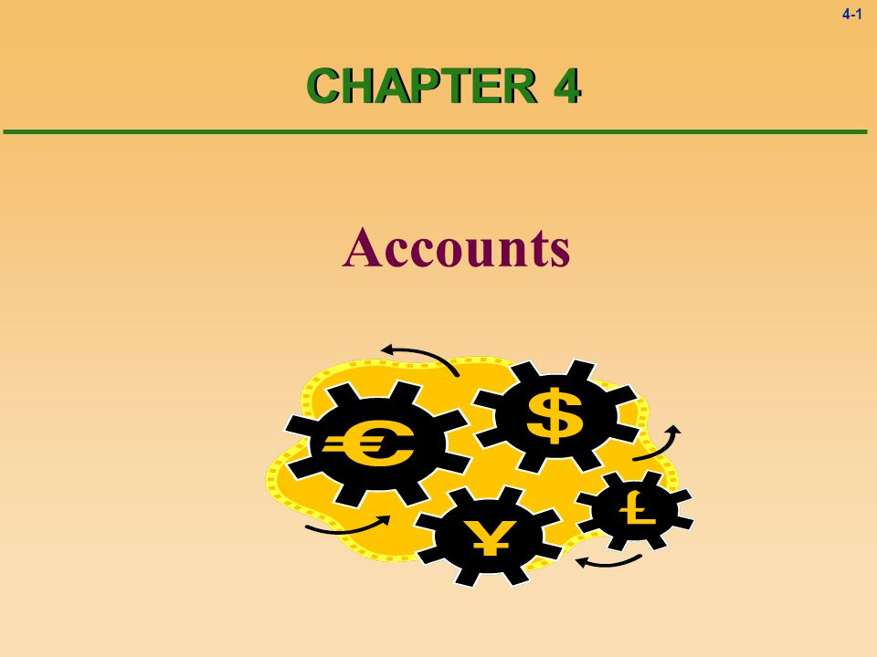 4-1 Accounts CHAPTER 4