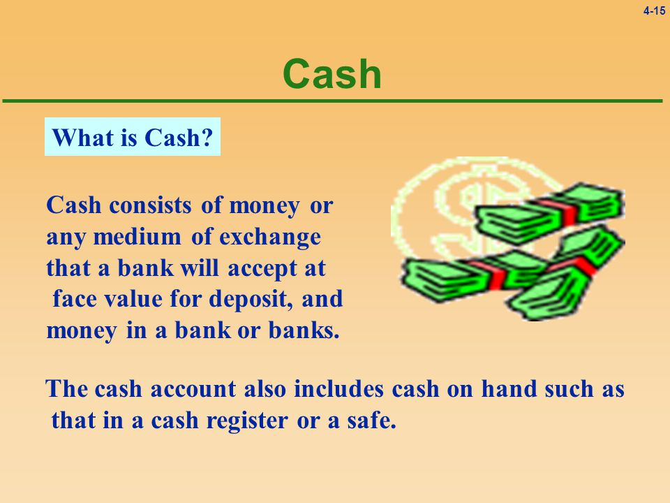 4-15 Cash What is Cash.
