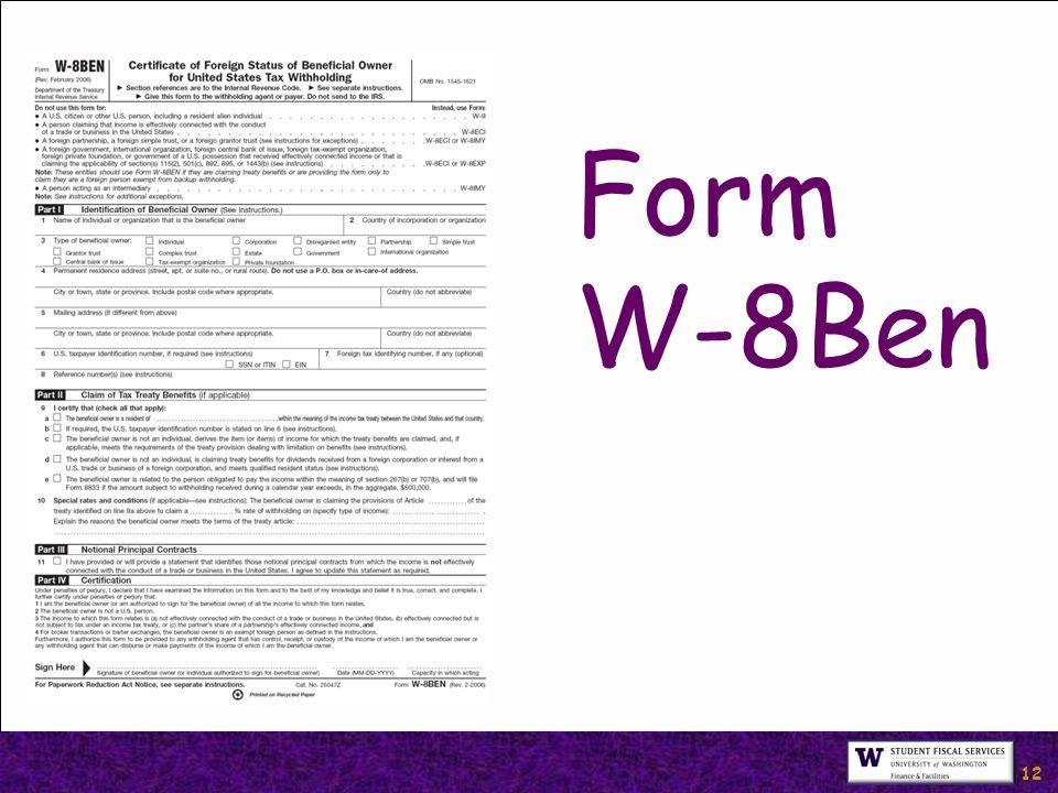 12 Form W-8Ben