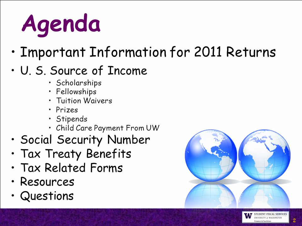 2 Important Information for 2011 Returns U. S.