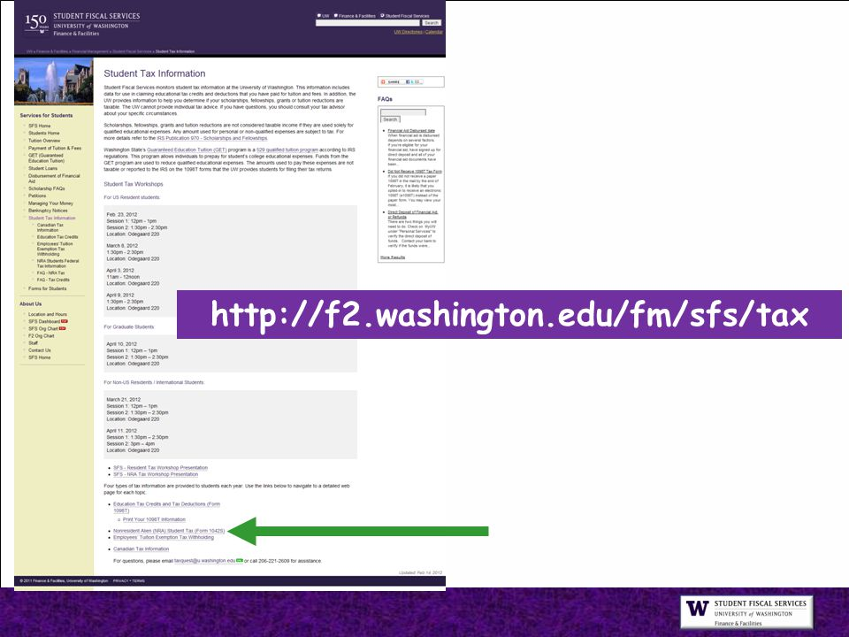 http://f2.washington.edu/fm/sfs/tax