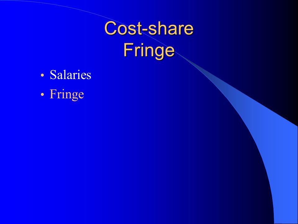 Cost-share Fringe Salaries Fringe
