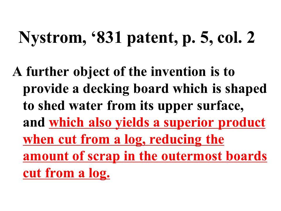 Nystrom '831 patent, claim 1 1.