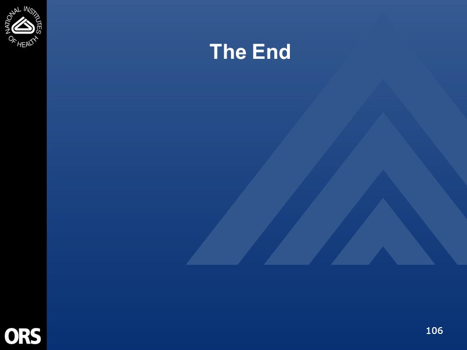 106 The End