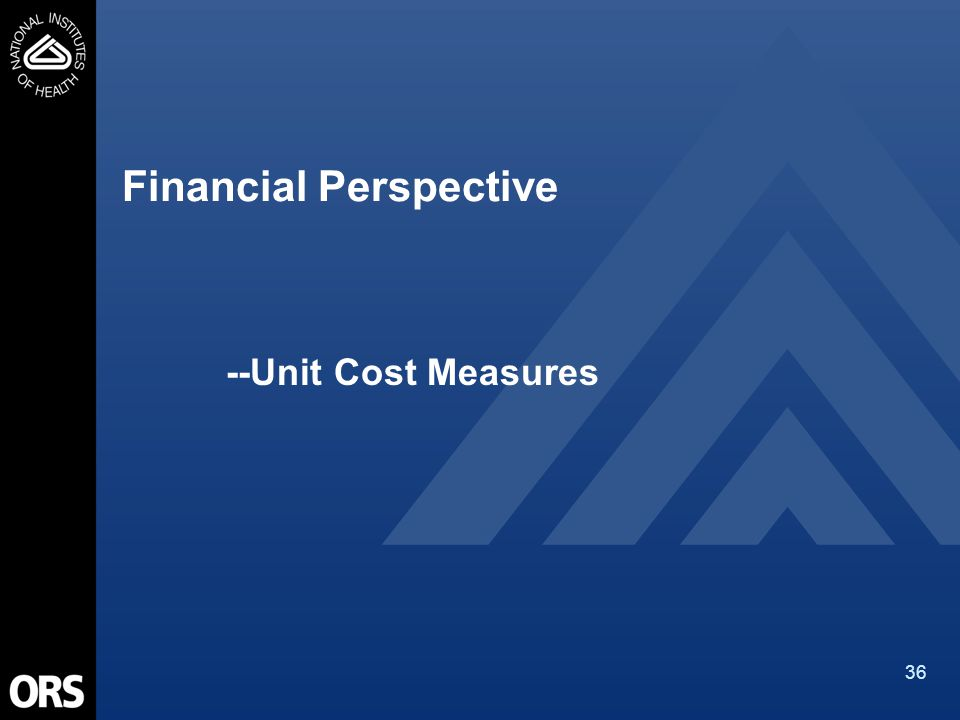 36 Financial Perspective --Unit Cost Measures
