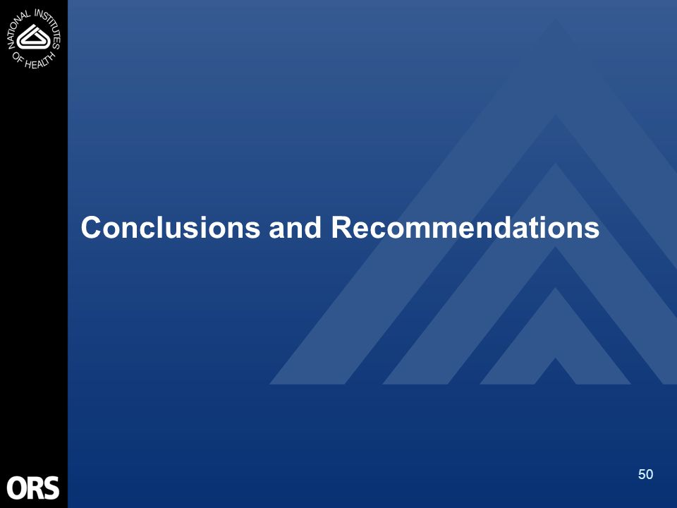 50 Conclusions and Recommendations