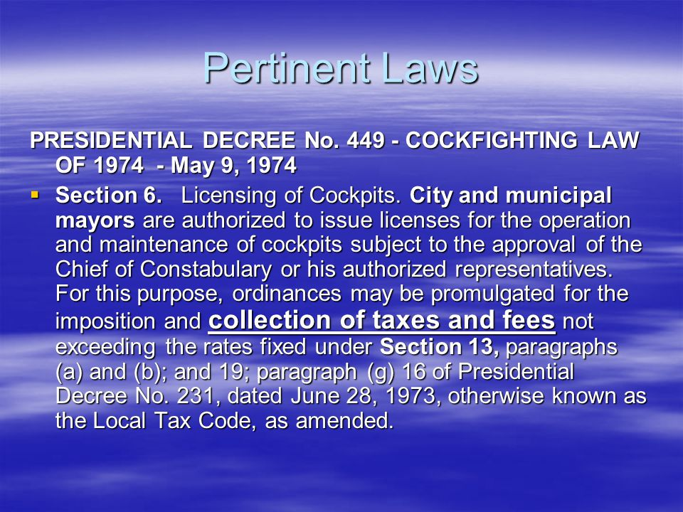 Pertinent Laws Section 140 of the Local Government Code of 1992 (Republic Act 7160),  Amusement Tax  (a) The province may levy an amusement tax to be collected from the proprietors, lessees, or operators of theaters, cinemas, concert halls, circuses, boxing stadia, and other places of amusement at a rate of not more than THIRTY PERCENT (30%) OF THE GROSS RECEIPTS FROM ADMISSION FEES.