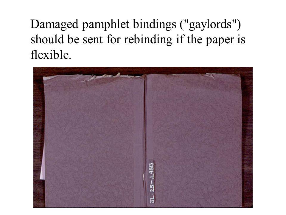 Damaged pamphlet bindings (