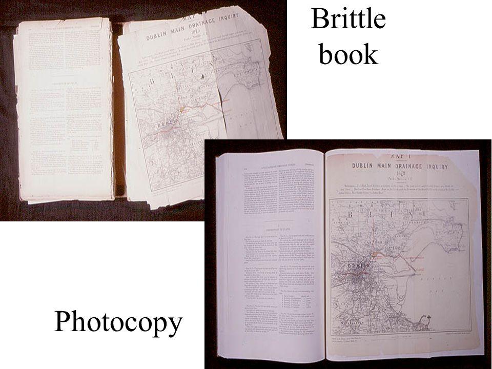 Brittle book Photocopy