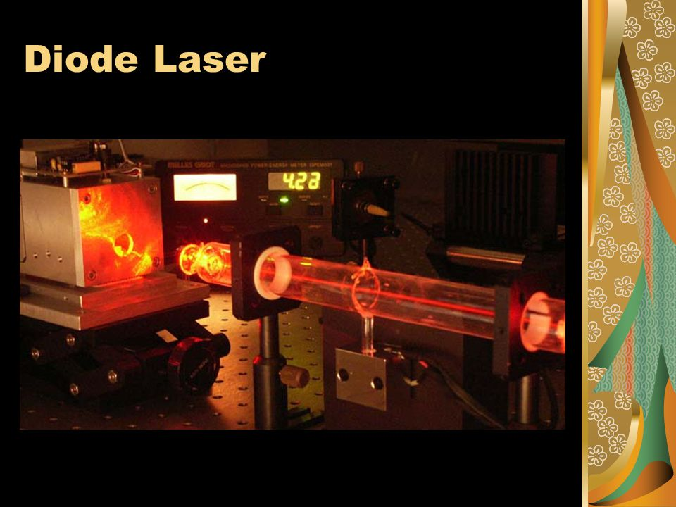 Typical Application of Laser The detection of the binary data stored in the form of pits on the compact disc is done with the use of a semiconductor laser.