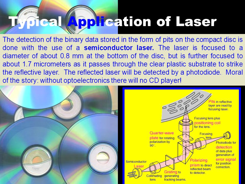 Therefore in a laser….