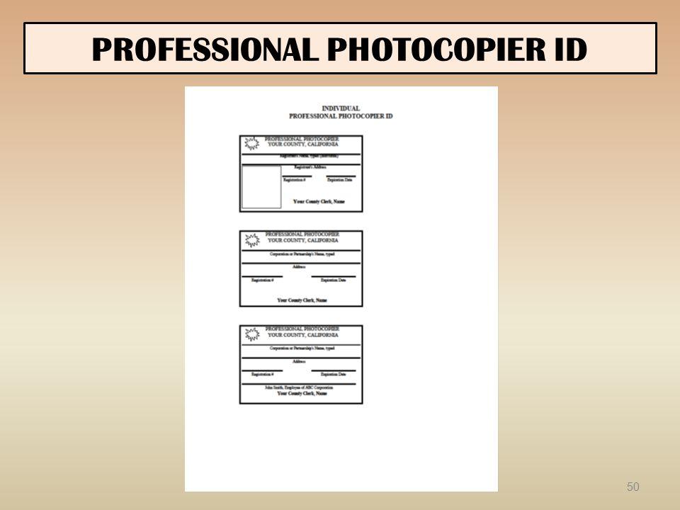 PROFESSIONAL PHOTOCOPIER ID 50