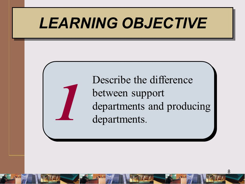 39 ALLOCATION: Direct Method Step 1 LO 3 EXHIBIT 7.8 Develop allocation ratios for support department costs.
