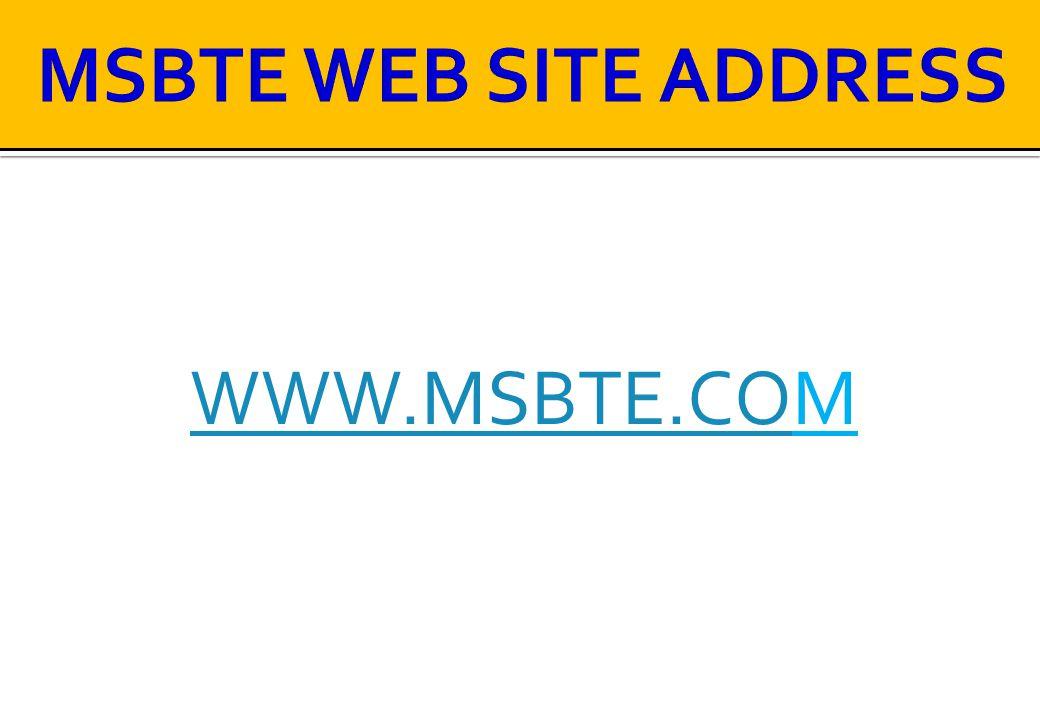 WWW.MSBTE.COWWW.MSBTE.COM