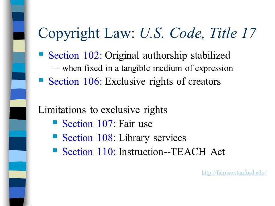 Copyright Law: U.S.