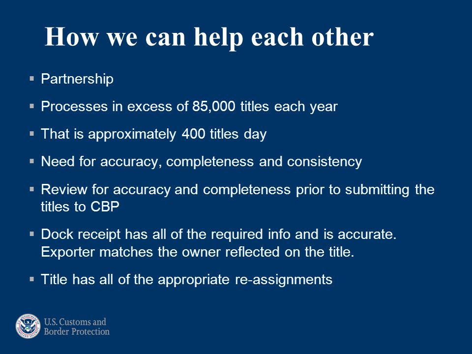 How we can help each other  Partnership  Processes in excess of 85,000 titles each year  That is approximately 400 titles day  Need for accuracy,