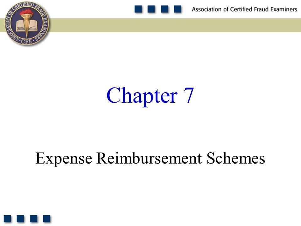 1 Expense Reimbursement Schemes Chapter 7
