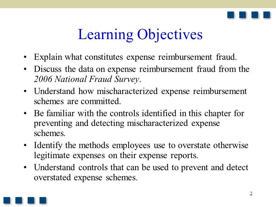 2 Explain what constitutes expense reimbursement fraud.