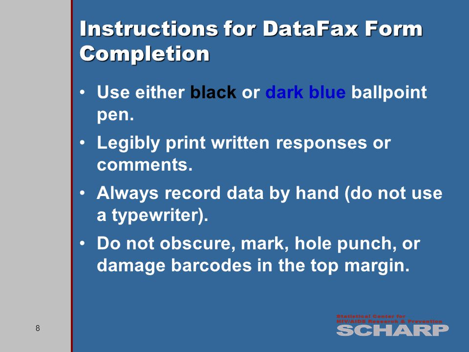 39 Faxing DataFax Forms, cont.