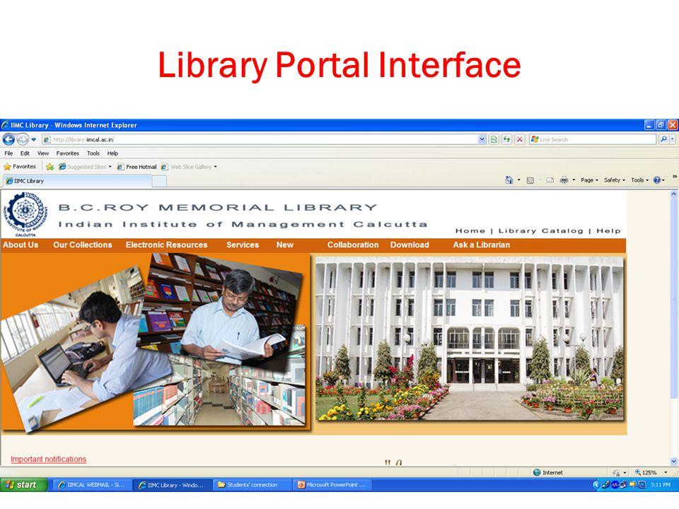 5/3/2015Swati Bhattacharyya20 Library Portal Interface