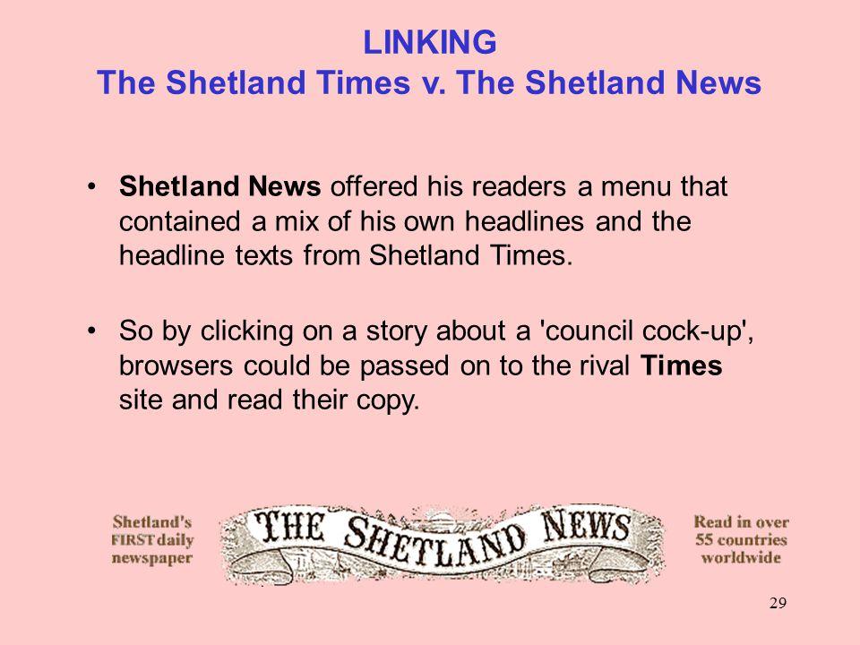 29 LINKING The Shetland Times v.