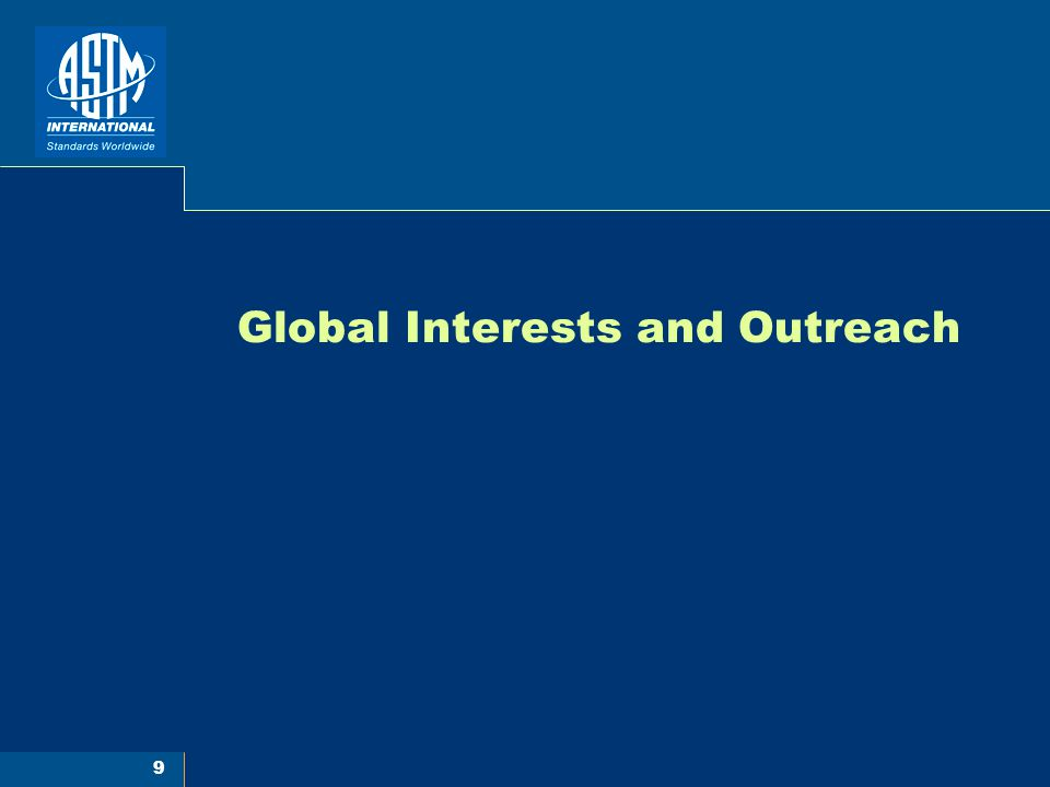 9 Global Interests and Outreach
