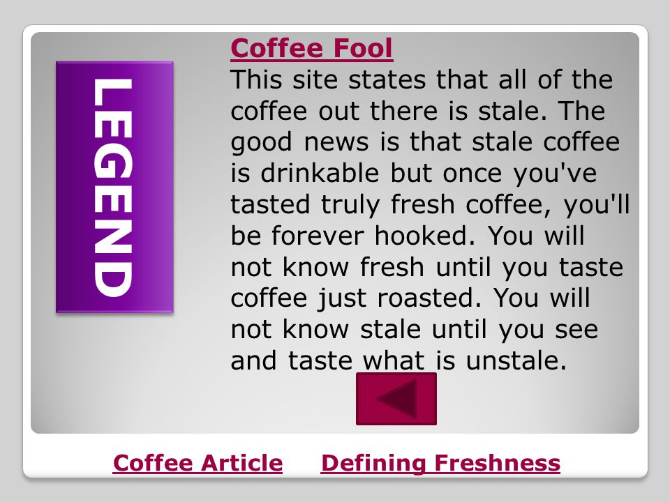 Coffee Article FACT LEGEND Coffee Fool The shocking secret coffee companies don't want you to know!