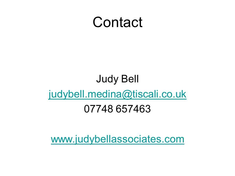 Contact Judy Bell judybell.medina@tiscali.co.uk 07748 657463 www.judybellassociates.com