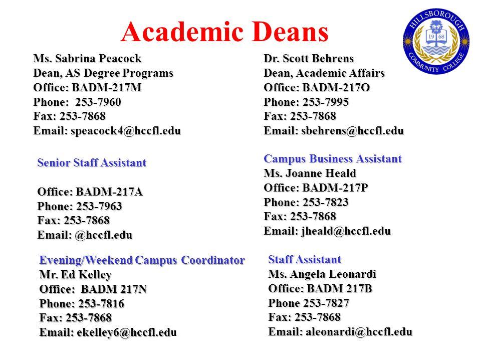 Academic Deans Ms.
