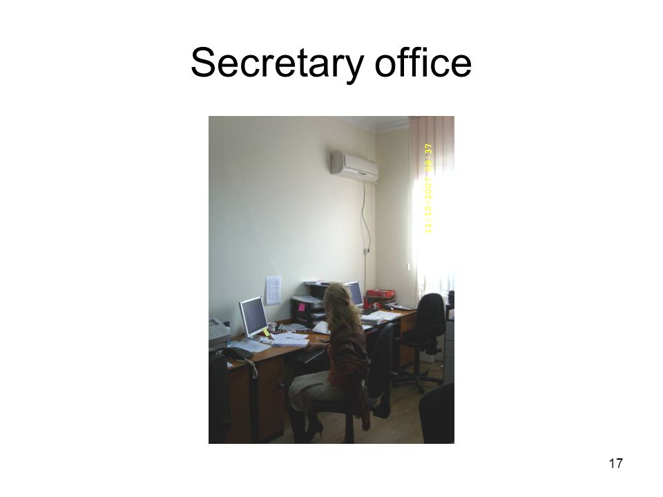 17 Secretary office