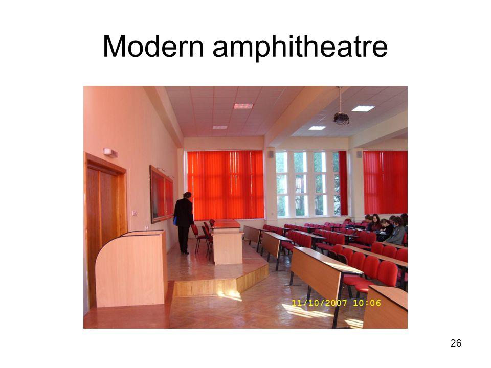 26 Modern amphitheatre