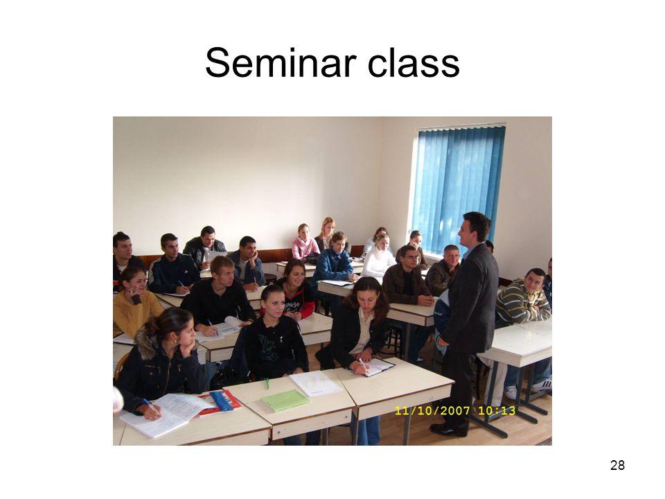 28 Seminar class
