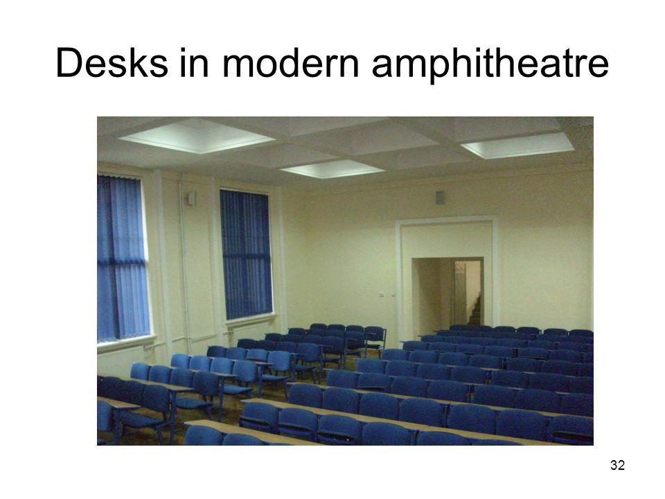 32 Desks in modern amphitheatre