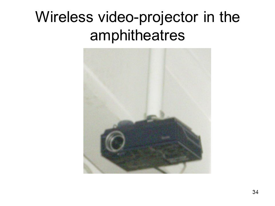 34 Wireless video-projector in the amphitheatres