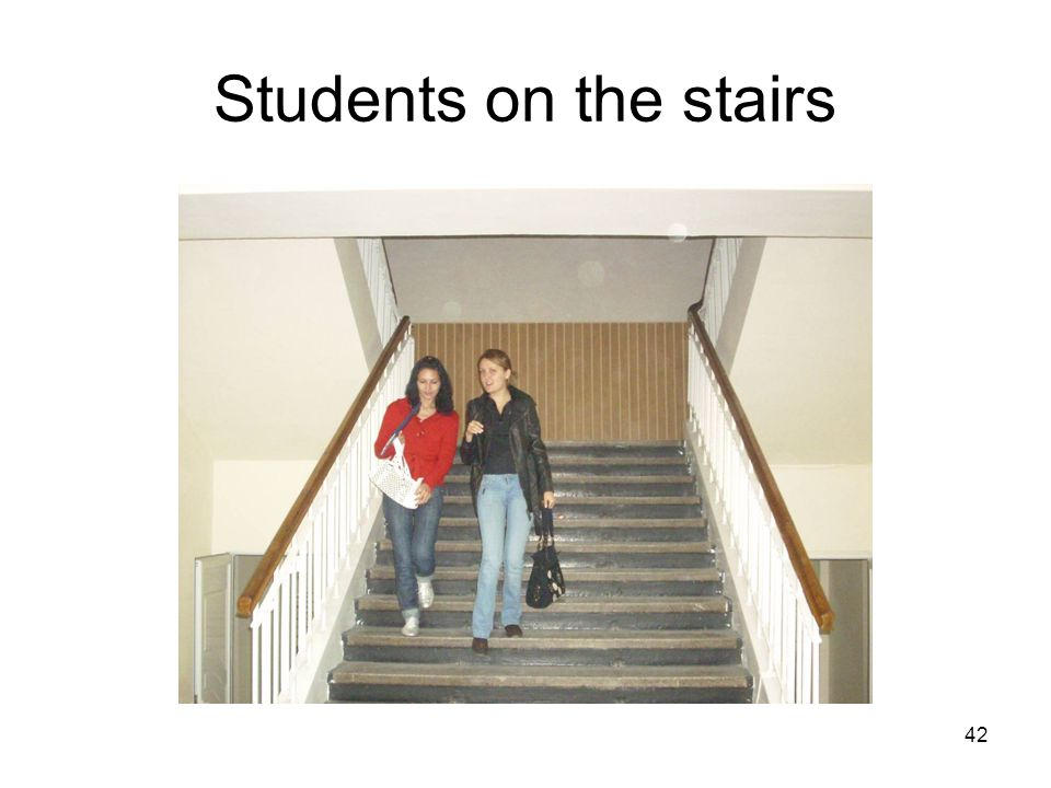 42 Students on the stairs