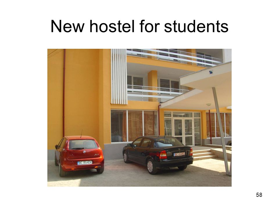 58 New hostel for students
