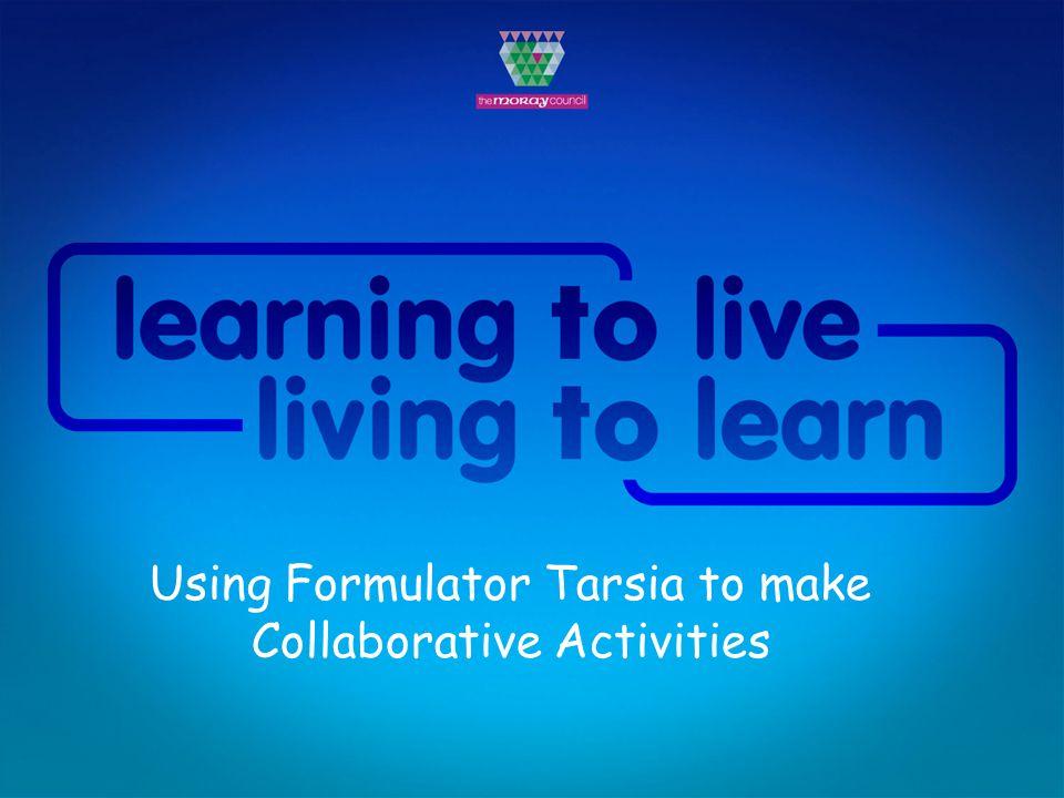 Using Formulator Tarsia to make Collaborative Activities