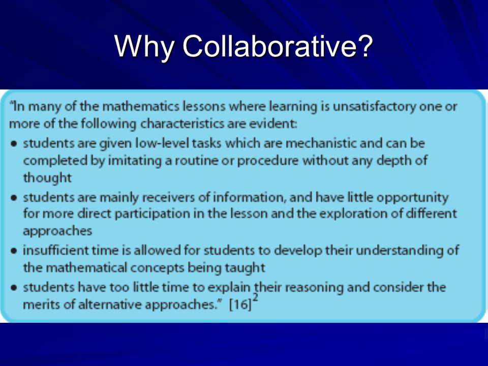 Why Collaborative?