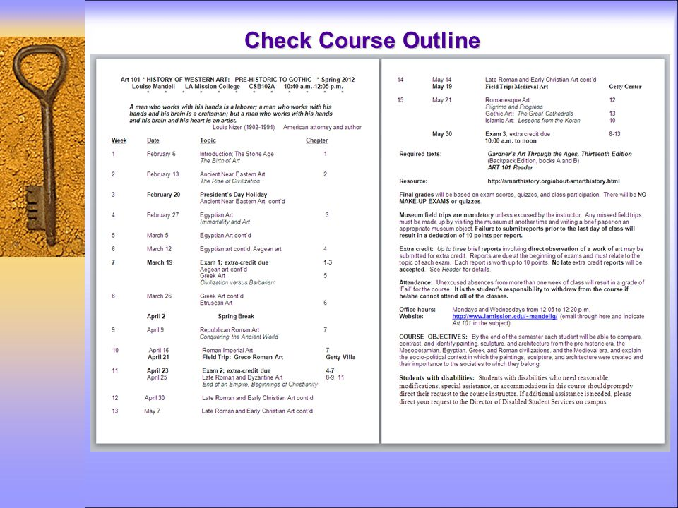 Check Course Outline