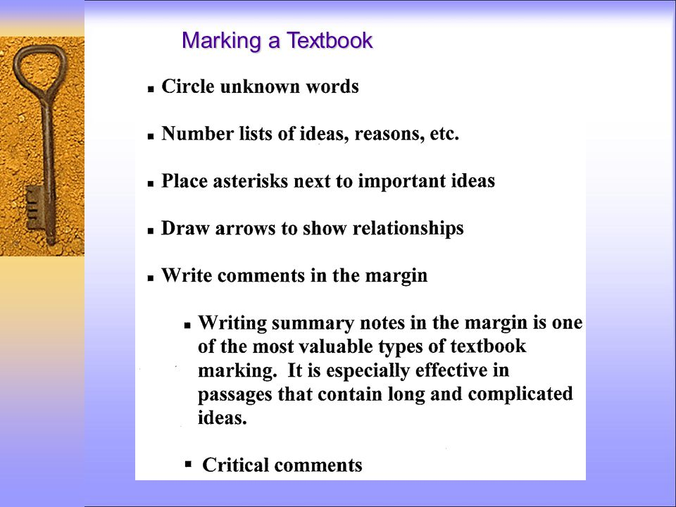 Marking a Textbook