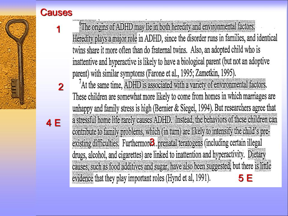 Causes 1 2 3 4 E 5 E